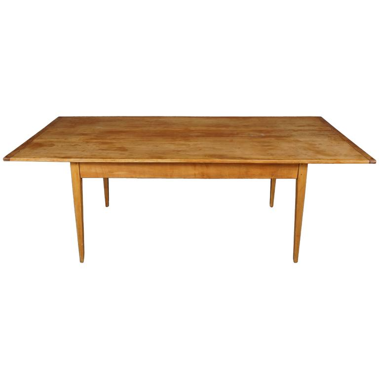 Large Shaker-Style Farm Table For Sale