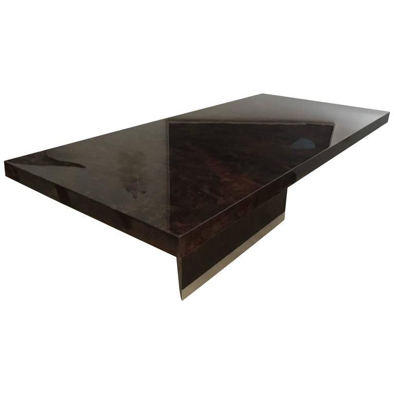 Saporiti Dining Table Wrapped in Goatskin 1