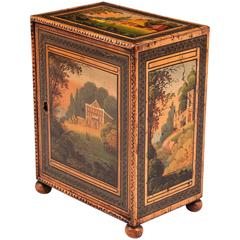 19th Century George III Painted Tunbridge Cabinet