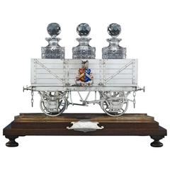 Silver Railway Car Decanter Stand