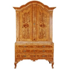 19th Century Baroque Style Walnut Wardrobe