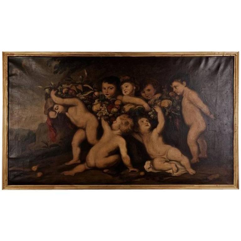 19th Century Baroque Style Oil Painting after Rubens