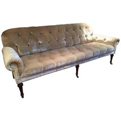 Movie Star Glamorous Champagne Silk Velvet Tufted Sofa