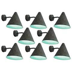 Hans-Agne Jakobsson Set of Eight Copper Wall Lights