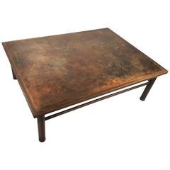 Philip and Kelvin LaVerne 'Classical' Motif Acid-Etched Bronze Coffee Table