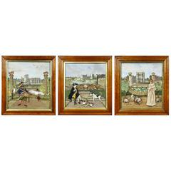 Three English Framed Diorama Pictures