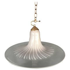 Mid-Century Modern Large Pendant Light in Murano Glass by Lino Tagliapietra