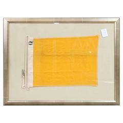 "Authentic Linen Signal ""Q"" Flag, Framed"