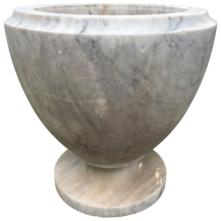 19th Century Italian Egg-Shaped Marble Urn