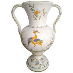 Moustiers Faience Tall Vase, France