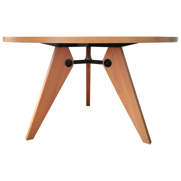 Vitra Dining Table Gueridon designed by Jean Prouve wood  : 7151633l from www.1stdibs.com size 768 x 768 jpeg 19kB