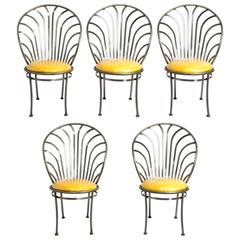Set of Five Steels Dining Chairs by Arthur Umanoff/Shaver-Howard