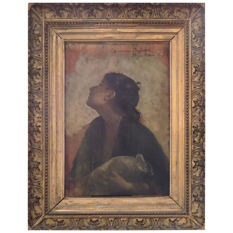 19th century oil painting on wood panel by tony robert fleury at 1stdibs