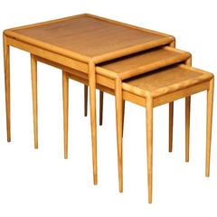 A Set of Mid-Century Nesting Tables by T.H. Robsjohn-Gibbings for Widdicomb