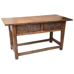 17th Century French Walnut Console Table