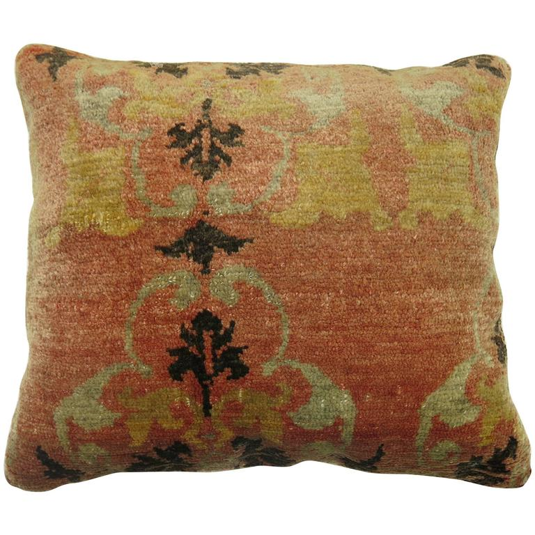Antique Oushak Anatolian Rug Pillow At 1stdibs
