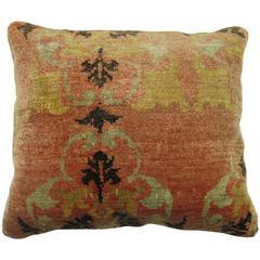Antique Oushak Anatolian Rug Pillow