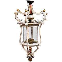 Custom Italian Style Lantern Composed of Wood and Iron