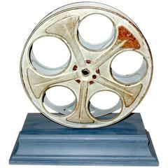 Motion Picture Cinema Reel, circa Mid-20th Century, Mounted as Sculpture ON SALE