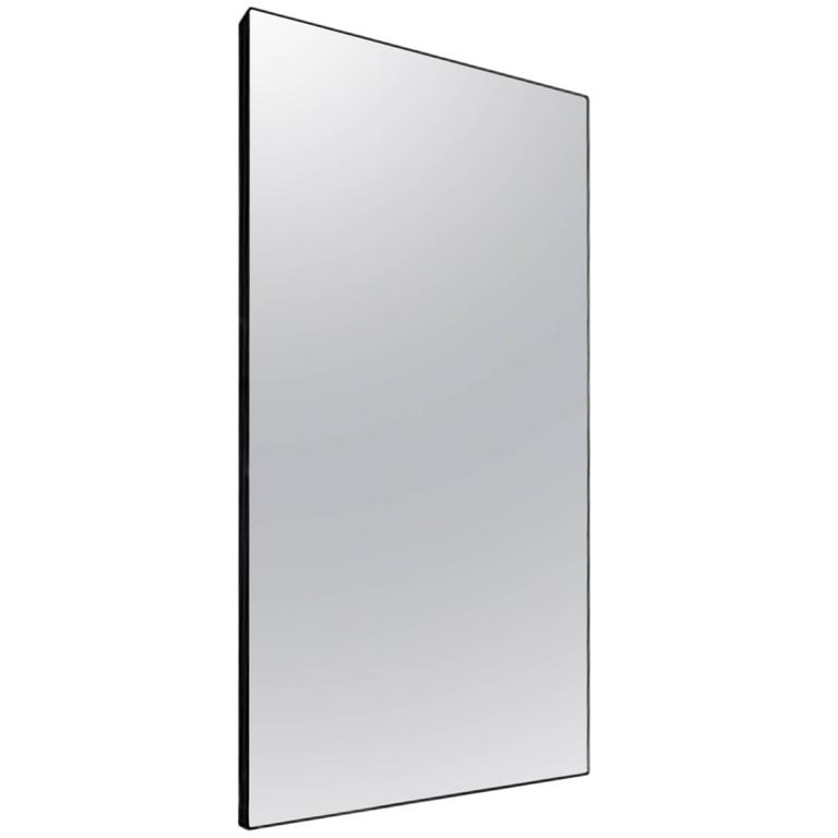 Black metal frame mirror for sale at 1stdibs for Metal frame mirror