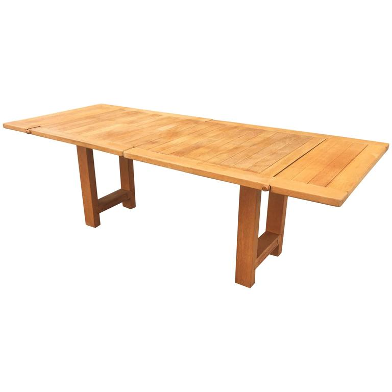 Guillerme et Chambron, Oak Bourbonnais Table, circa 1970