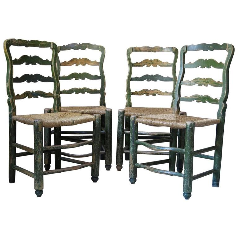French 18th Century Country Style Chairs For Sale