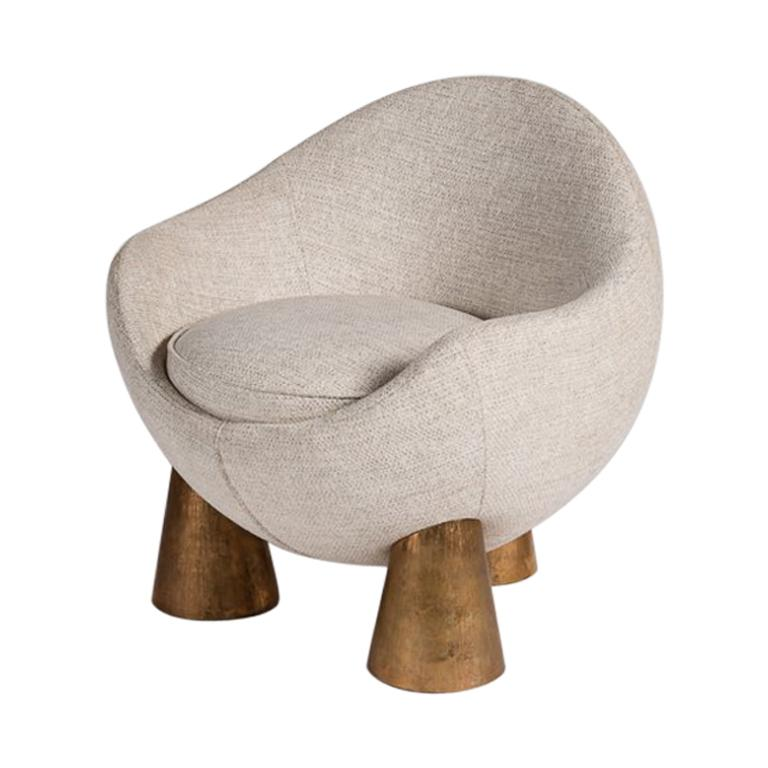 Achille Salvagni Gae armchair, new, offered by Maison Gerard