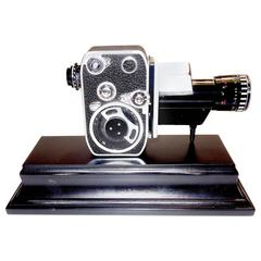 Bolex Circa Midcentury 8mm Movie Camera, Mounted as Sculpture