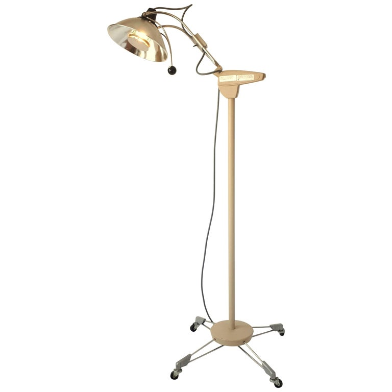 Medical Floor Lamp, Mid-Century Modern, 1970s, USA For Sale