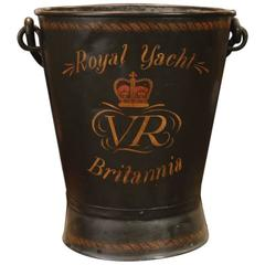 Authentic Ship's Deck Bucket, Britannia