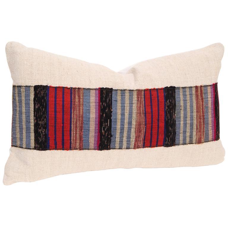 Vintage Japanese Hand Loomed Sakiori Obi Pillow