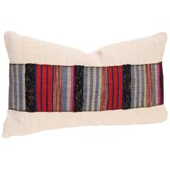 Vintage Japanese Hand Loomed Sakiori Obi Pillow