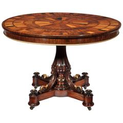 Exquisite Late Regency Specimen Top Centre Table