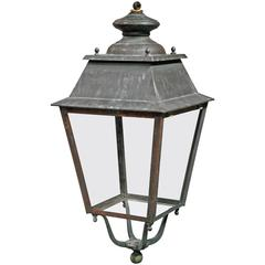 Old French Lantern in Copper and Iron