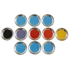 Towle Sterling and Enamel Coasters