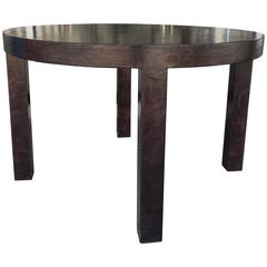 Gorgeous Brown Parchment Dining Table from Steve Chase Designed Estate