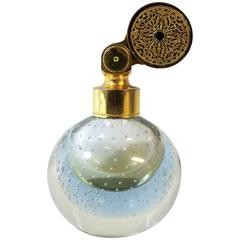 Marcel Franck French Perfume Atomizer with Art Glass Controlled Bubble Bottle