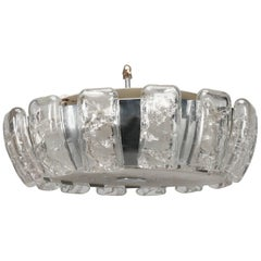 Kalmar Mid-Century Icicle Glass Flush Mount Fixture