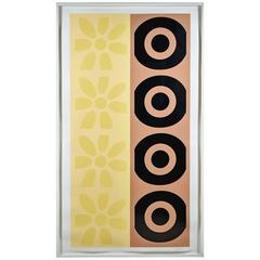 Peter Gee Pop Art Daisy and Target Abstract Silkscreen Panel