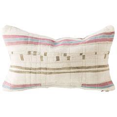 Piecework African Textile Lumbar Cushion