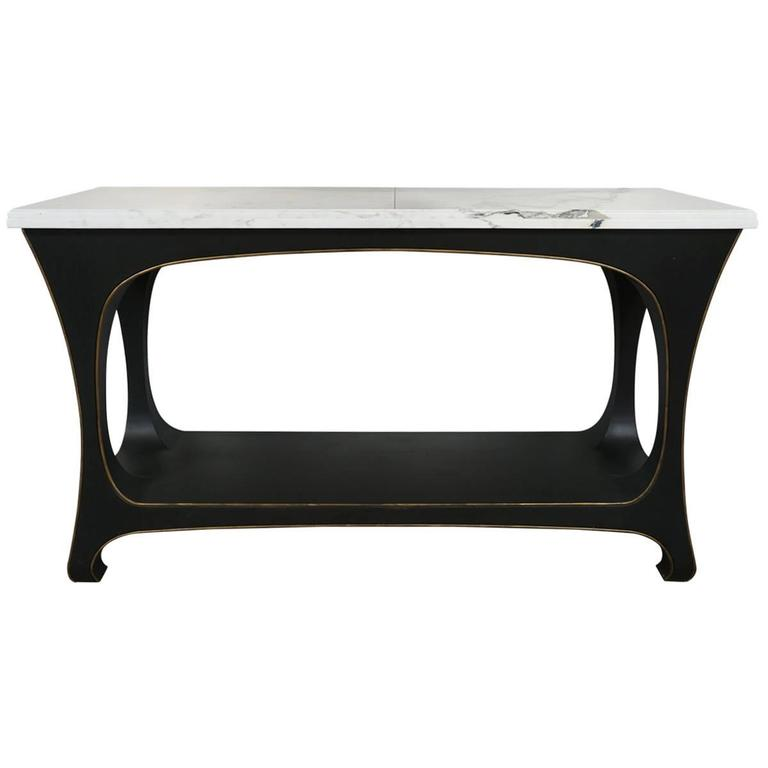 Marble Top Console with Custom Base