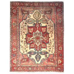 Antique Persian Sarapi Rug, circa 1880s