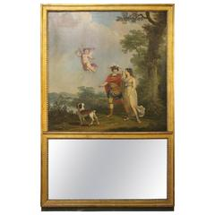 French Directoire Trumeau Mirror