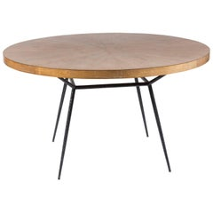 Oak and Iron Round Table