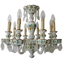 Porcelain Eight-Light Chandelier
