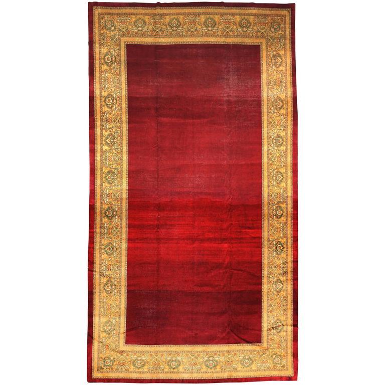Deep Burgundy Indian Agra Rug For Sale At 1stdibs: Antique Indian Agra Rug, Circa 1880s For Sale At 1stdibs