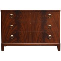 Swedish Mahogany Art Deco Chest of Drawers