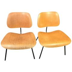 Pair of Early Charles Eames LCM Chairs