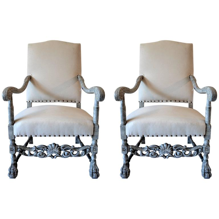 Pair of Chateau Chairs For Sale