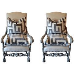 Pair of Batik Pattern Pillows